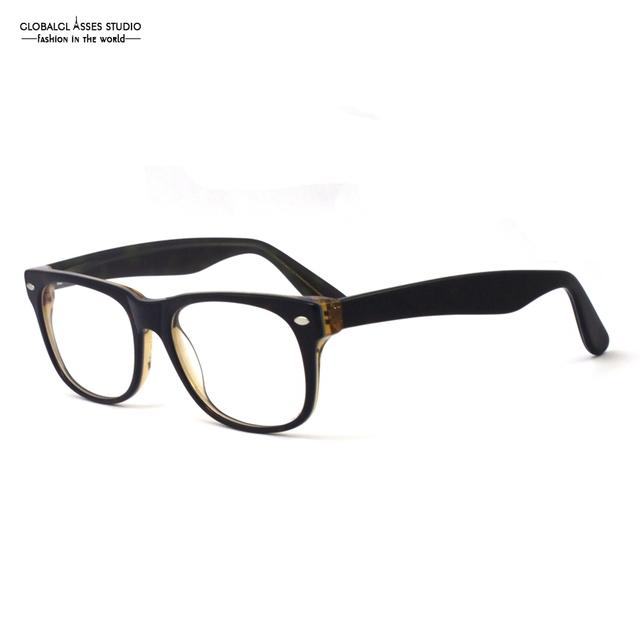 Diseño elegante de La Manera Gafas de Marco Petchwork Demi Marrón en Marrón Transparente CUADRADO Grande de fotograma Completo Anteojos/Gafas Z004