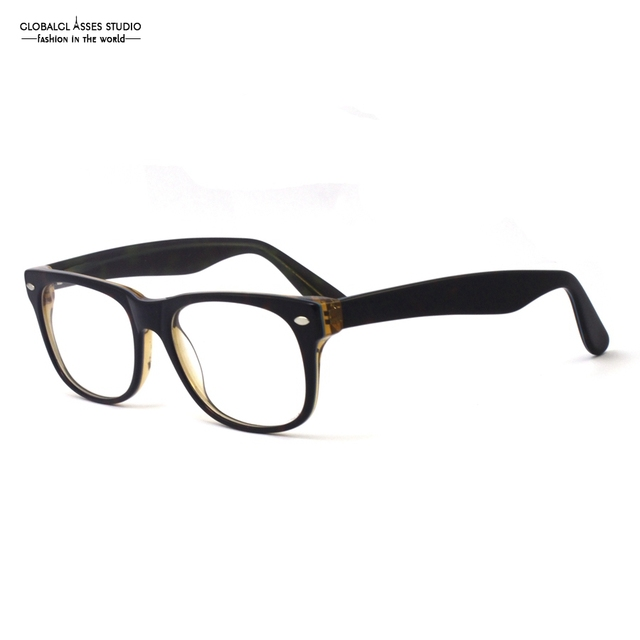 7e26a126cf Elegant Fashion Design Glasses Frame Demi Brown on Transparent Brown  Petchwork Big SQUARE Full-frame