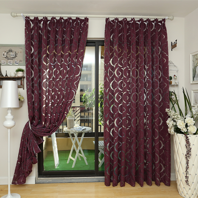 Moderne rideau rouge pourpre 3d rideaux d coration de la for Decoration maison aliexpress
