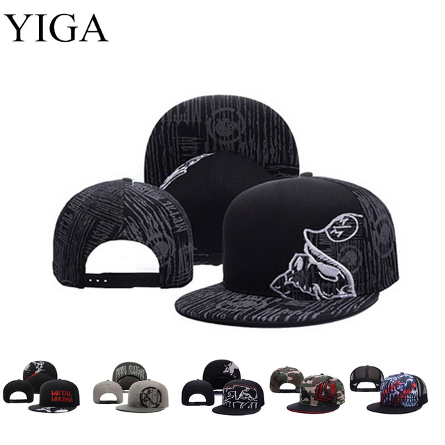 YIGA 2017 New Fashion Metal Mulisha Adjustable Baseball Hat Hip Hop Snapback Cap For Men Women caps