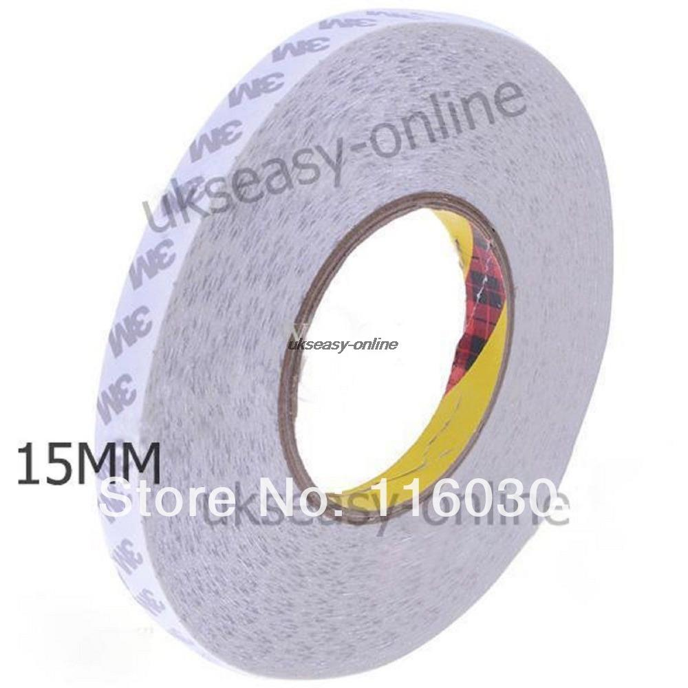 New 15mm Double Sided Tape 3M Adhesive Tape for Led strips, LCD screen,car light yitap 25 lot double side pet double sided adhesive tape for lcd screen double sided tape