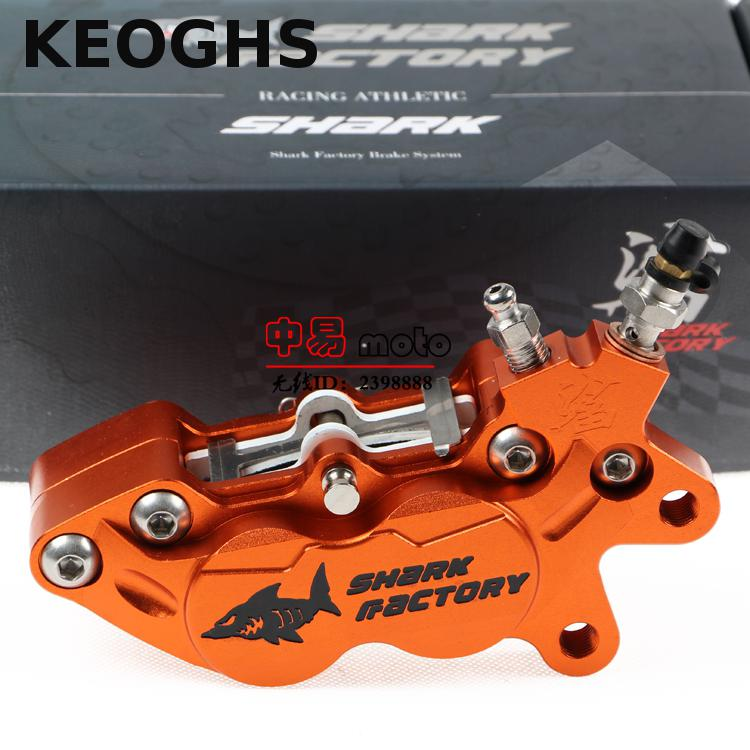 Keoghs Motorbike Brakes Brake Caliper/pumb 40mm Mount Forged And Cnc Aluminum 4 Pistons For Honda Yamaha Kawasaki Suzuki Replace keoghs motorcycle rear hydraulic disc brake set diy modify cnc rpm brake pumb for yamaha scooter dirt bike motorcross motorbike