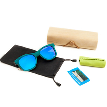 2018 fashion vintage Polarized Women sunglasses men high grade brand Peacock blue Beach Bamboo eyeglasses
