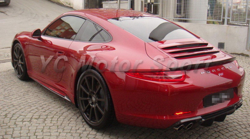 US $565 0  Car Accessories Carbon Fiber VRS V GT Edition Style Side Skirt  Fit For 2012 2015 Carrera 911 991 Side Skirts Car styling-in Front Skirt