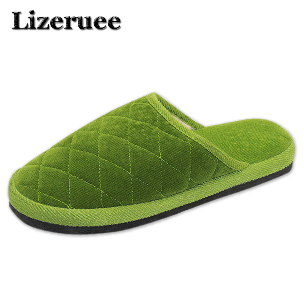 7 Colors New Fashion Soft Sole Autumn Winter Warm Home Cotton Plush Slippers Women Indoor\ Floor Flat Shoes Girls Gift Q48