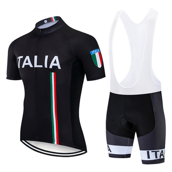 2019 nuevo negro ITALIA PRO Ciclismo jersey 20D PAD Ciclismo pantalones cortos...
