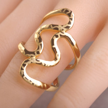 Brand Design Hollow Love Shaped Rings For Women Gold Plated Dance Party Dress Accessores Punk Rock Unisex Ring Multicamadas Anel
