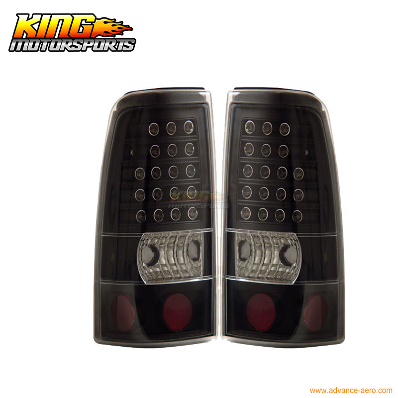 For 2003-2006 Chevy Silverado LED Tail Lights Black Lamps 04 05 USA Domestic Free Shipping