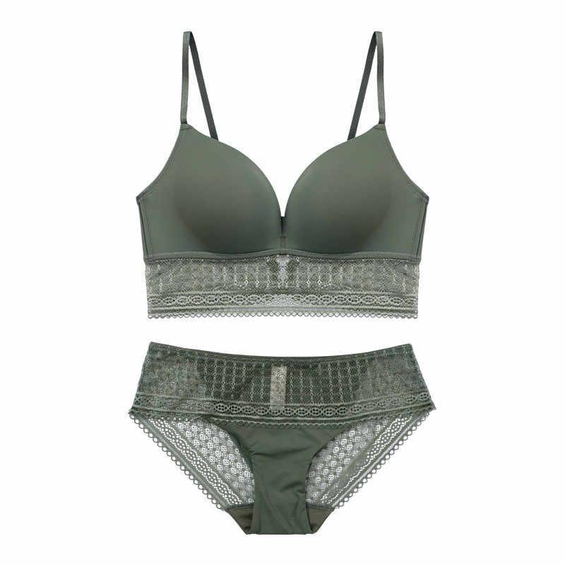 ... CINOON Sexy Lace bra set push up brassier women underwear mousse lingerie  set solid color wholesale ... 0674f89bf