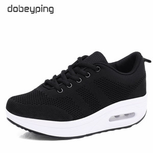 Image 2 - 2020 New Spring Summer Casual Shoes Woman Breathable Mesh Women Loafers Platform Womans Sneakers Lace Up Ladies Flats Shoe