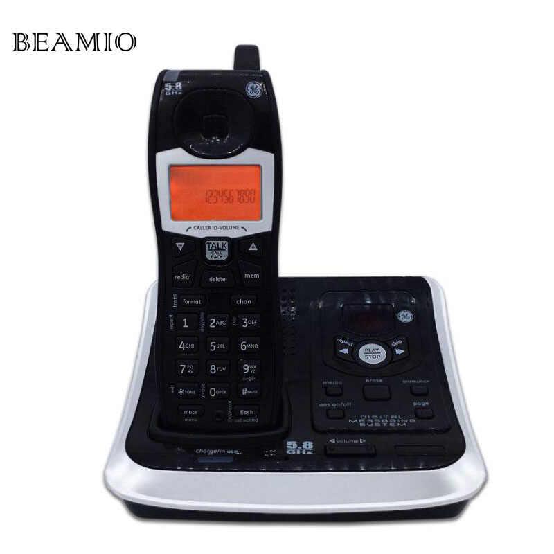 英語デジタルコードレス無線電話で通話id回答システムバックライト付き固定電話用オフィスホーム商務