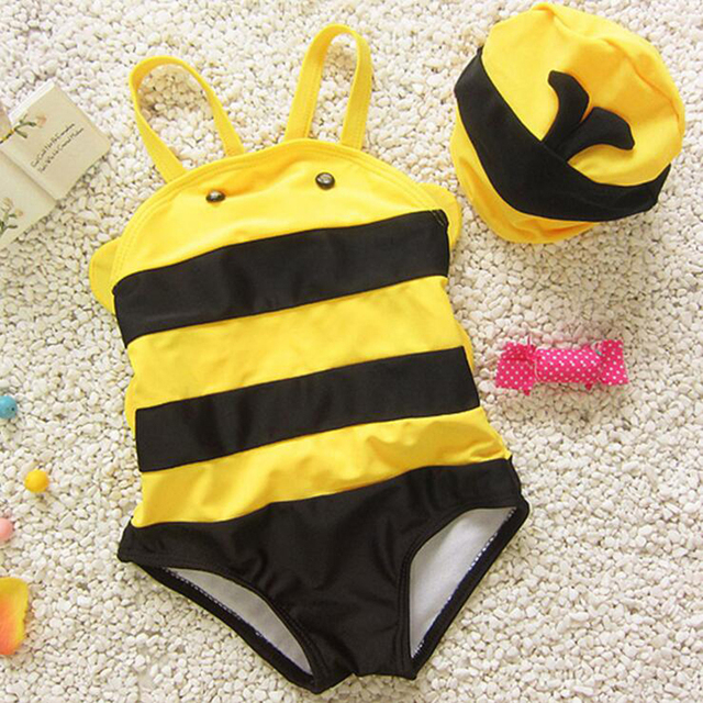 Nueva llegada del bebé del traje de baño lindo de la muchacha traje de baño niños bebe bañador bikini infantil embroma traje de baño de spa de una sola pieza traje de baño