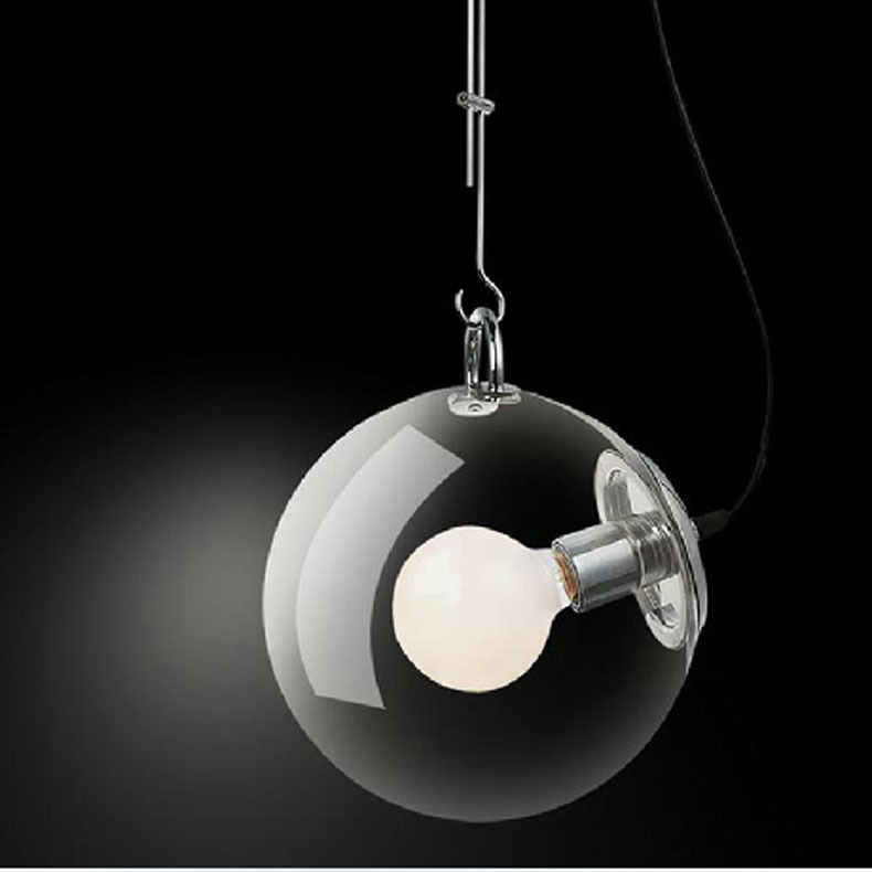 ФОТО 25CM DIY Ceiling Lamp Ball Bubble Clear Glass Pendant Lighting Edison Bulb Home Cafe Bar Dining Room Bedroom Hall Restaurant