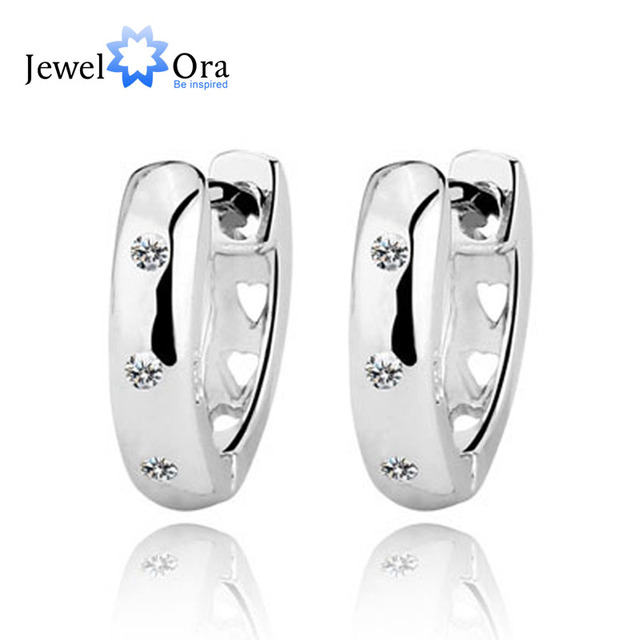 Genuine 925 Sterling Silver Jewelry Elegant Accessories Women Fashion Lady Silver Stud Earrings Buy A Gift(Jewelora EA101715)