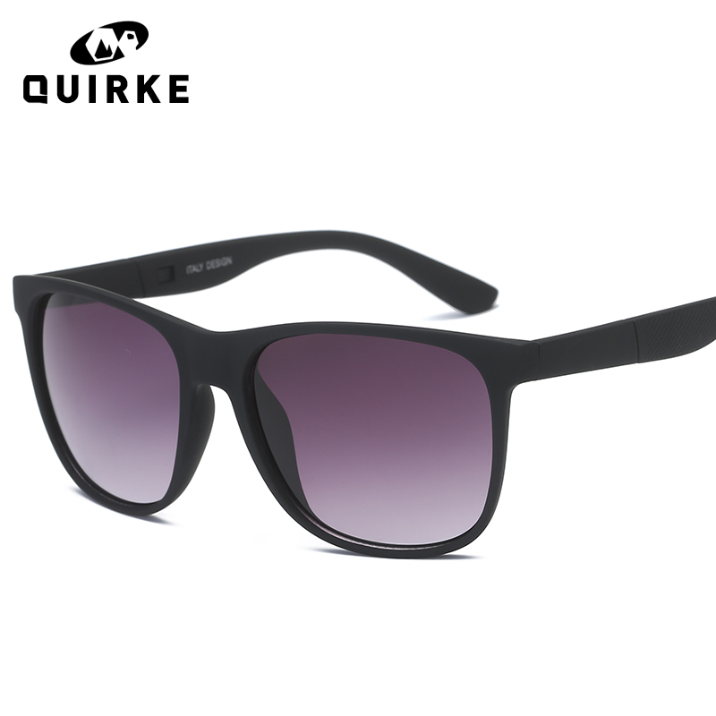 QUIRKE 2018 New Fashion Black Frame Women Sunglasses Classic Men Retro Rivet Shades Brand Designer Sun Glasses gafas UV400