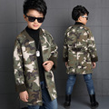 Boys Jackets Cotton Camouflage Long Coats For Boys Children Clothing Thicken Kids Outerwear 5 7 9 11 12 Years Spring Autumn Tops