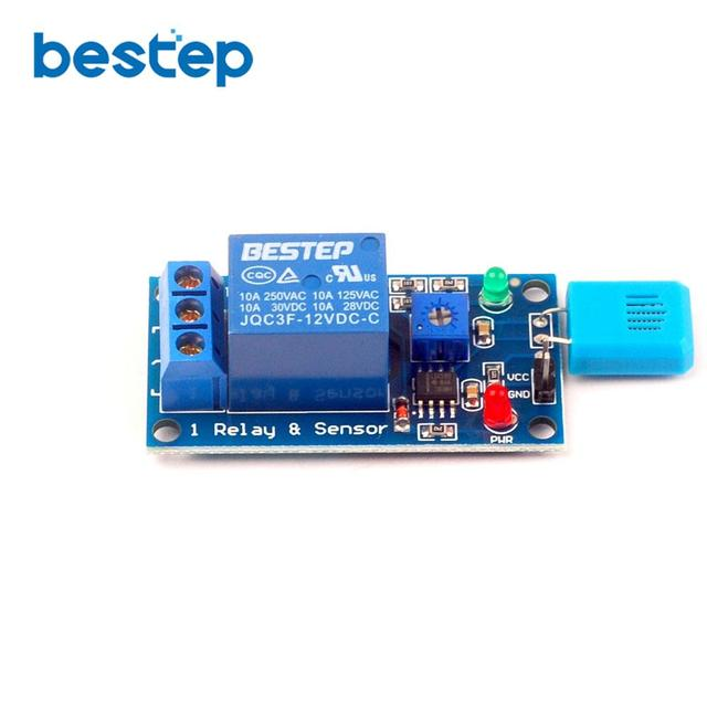 1PCS 12V Humidity Sensitive Switch Humidity Controller Humidity Sensor Module 12V Relay Module