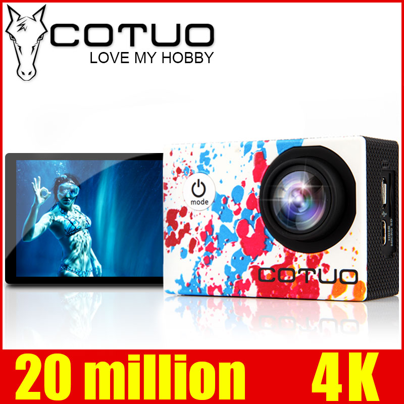COTUO CS96 Sports Camera Wifi 4K Gyro Adjustable Viewing angles(70-170 Degrees) 2.0 LCD NTK96660 30M Waterproof Action Camera soocoo c30 sports action camera wifi 4k gyro 2 0 lcd ntk96660 30m waterproof adjustable viewing angles