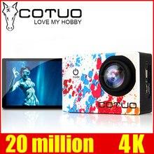 Cotuo CS96 спортивные Камера Wi-Fi 4 К гироскопа регулируемые углы обзора (70-170 градусов) 2.0 ЖК-дисплей NTK96660 30 м Водонепроницаемый действие Камера
