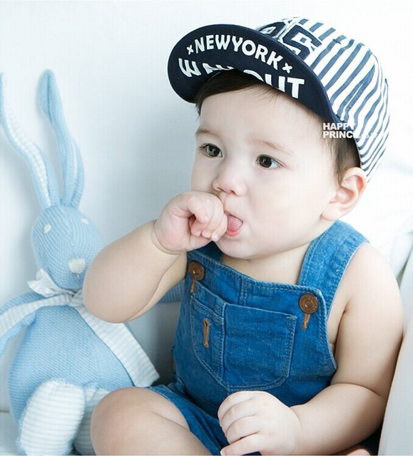 Popular Lovely Design Handsome Plaid Casual Hat Cute Baby Cap Kids Boys  Girls Hats Newborn Photography cfbdc5f25fe1