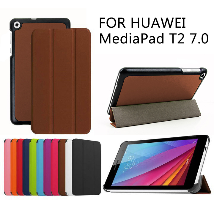1Pc Case For Huawei Mediapad T2 7.0 Protective Smart Cover Faux Leather Tablet For HUAWEI BGO-DL09 BGO-L03