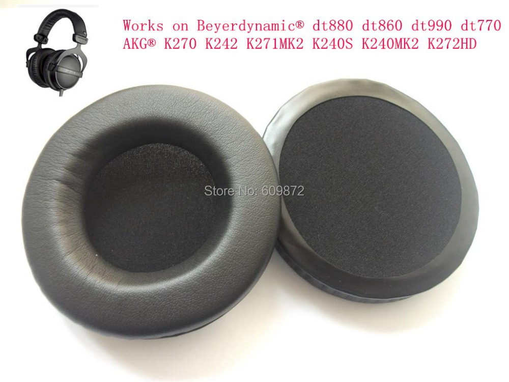 Oreillettes de rechange en similicuir, pour Beyerdynamic dt880 dt860 dt990 dt770, 50 par lot, livraison Fedex