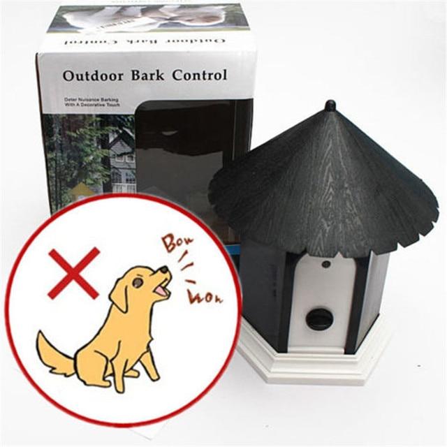 1 UNID Mascota Al Aire Libre Birdhouse Anti Ladridos de Control de Parada de la Corteza de Ultrasonidos de Sonic repelente de Perro Collar de entrenamiento Suministra VED81T50