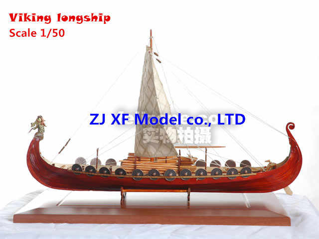 NIDALE Model Northern Europe Classic wooden sail boat scale 1/50 Viking ships assembly model longship building kit