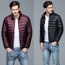 Winter Men's Ultra-Light Down men's down jacket white duck down coat Short-Size Outdoor Jacket Coat