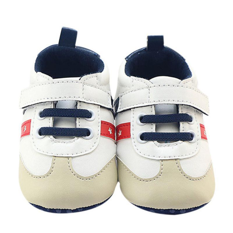 High Quality PU Leather Soft Sole First Walkers Crib Shoes Sneakers Autumn Winter Toddler Baby Boys Patchwork Fashion Shoes