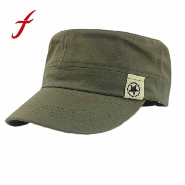 2019 NEW Fashion Mens Hat Unisex Women Men Flat Roof Military Hat Cadet Patrol Bush Hat Baseball Field Cap Snapback Casual Caps