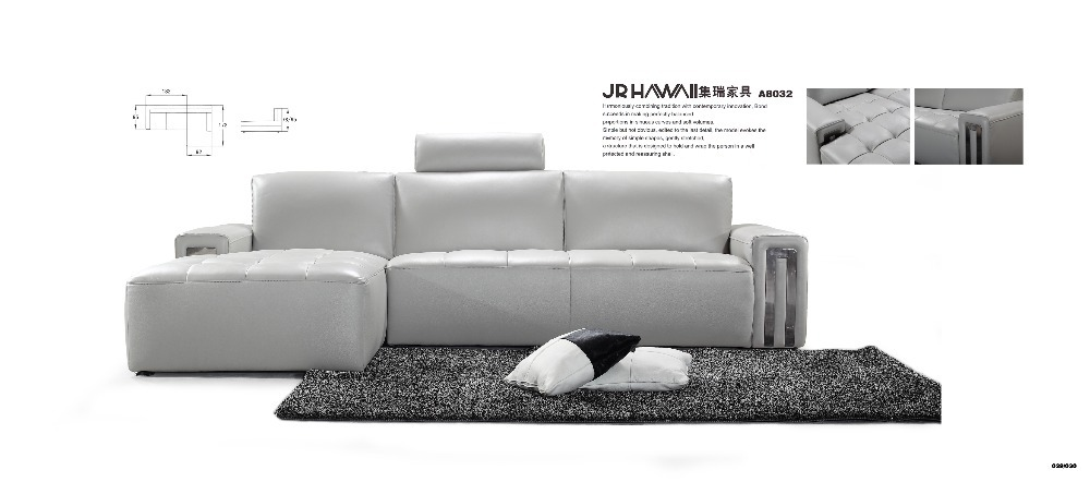 8032 factory price high quality top grain genuine leather - Best quality living room furniture ...