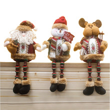 New Year Santa Claus Snow Man Reindeer Doll 2016 Christmas Decoration Xmas Tree Hanging Ornaments Pendant Christmas Gift
