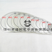 Jazz Drum kit комплект прозрачный черный кольцо двойное масло кожа барабанная кожа 8-22 дюйм(ов) (ов) дополнительно