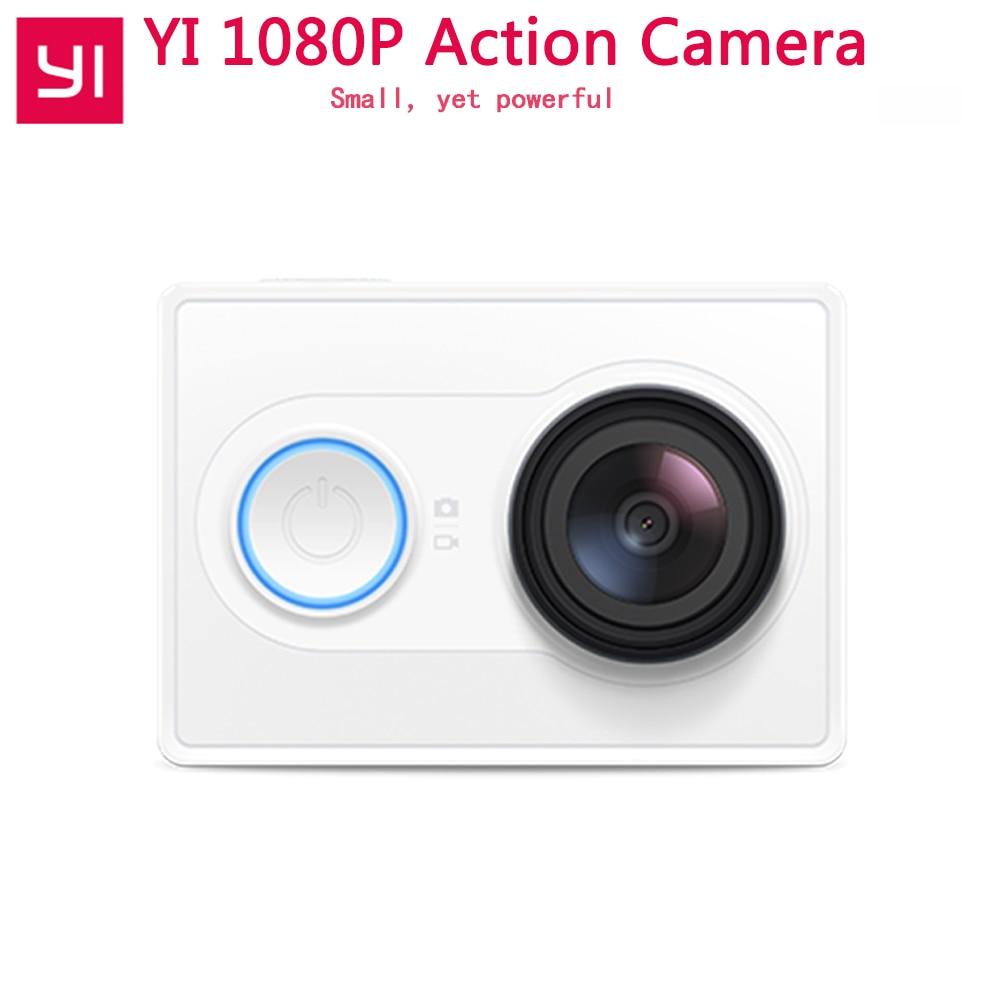 YI Action Camera 1080P Xiaoyi Sport Camera16MP Full HD 155 degree Ultra-wide Angle Sports Mini Camera add Selfie Stick Bundle