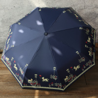 Windproof Women Rain Umbrella Full Automatic Umbrella Female Lovely Cat Folding Anti UV Sun Parasol