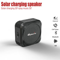 CYBORIS 5W Wireless Bluetooth Speaker Solar Charging Speakers for Samsung for iPhone X for Xiaomi for Outdoors Climbing Cycling