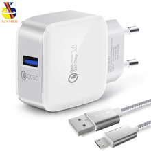 XINNIER USB Charger Quick Charge 3.0 Fast Charger QC3.0 QC2.0 USB Adapter 18W Portable Wall Charger for xiaomi huawei iphone 7(China)