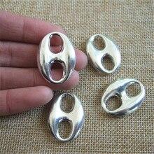 10 шт. серебряный двойное отверстие слайд прокладка очарование Fit 10 * 6 мм солодки кожа