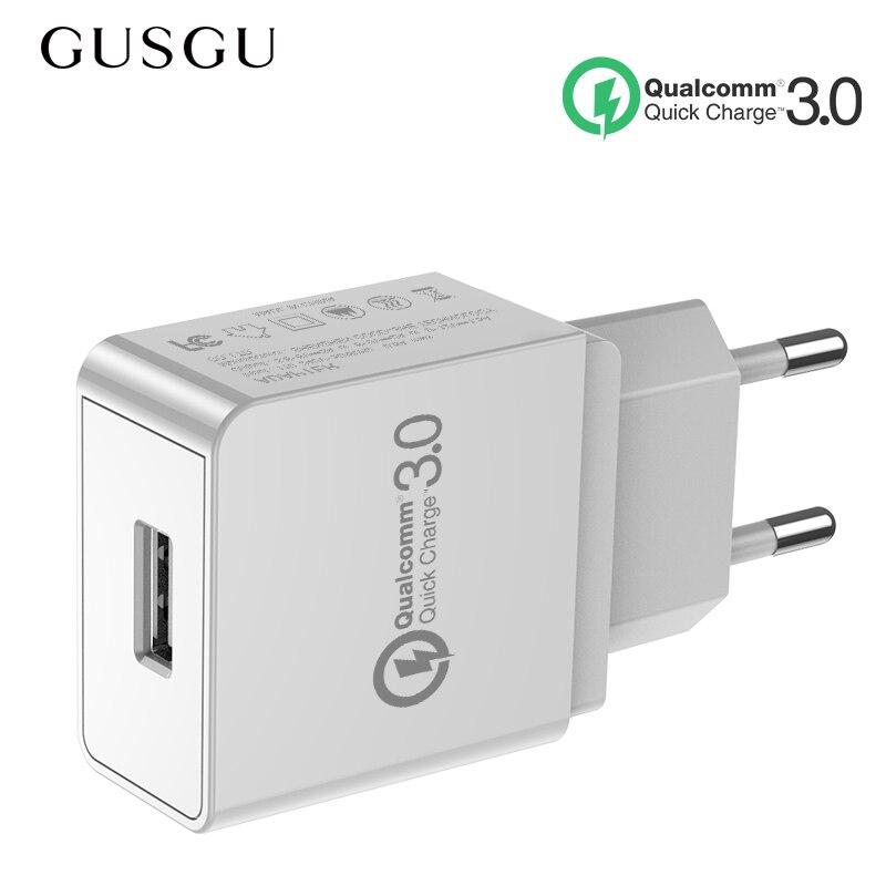 GUSGU cargador rápido QC 3,0 USB cargador de teléfono adaptador de pared cargador de viaje EU para iPhone Samsung teléfono adaptador USB Bakeey 12 en 1 USB tipo-c HUB a HDMI RJ45 Multi USB 3,0 adaptador de corriente para MacBook-Pro estación de acoplamiento para portátil