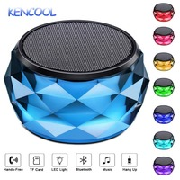 LED Bluetooth Speaker,KENCOOL Night Light Wireless Speaker Diamond Shape Portable Hands Free/Phone/Micro SD/AUX in/TWS Supported