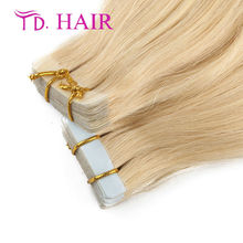 #613 TD hiar 20 40pcs 613# Blonde Color Brazilian Tape Hair Skin Weft Hair Straight Extensions 7A High Quality tape in Hair