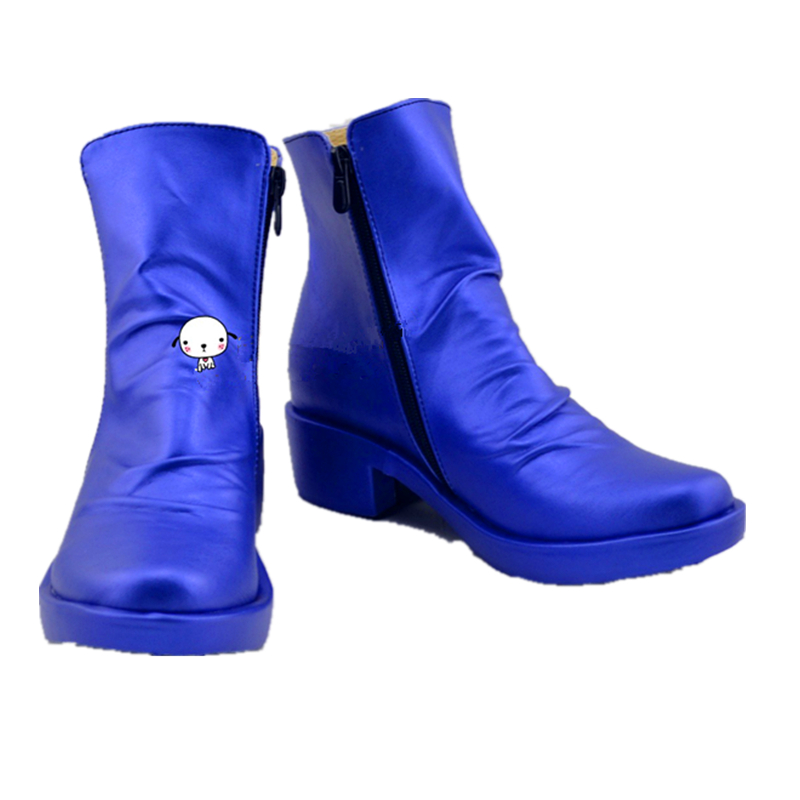 Anime Game JoJo's Bizarre Adventure Johnny Joestar Blue Cosplay Shoes Boots