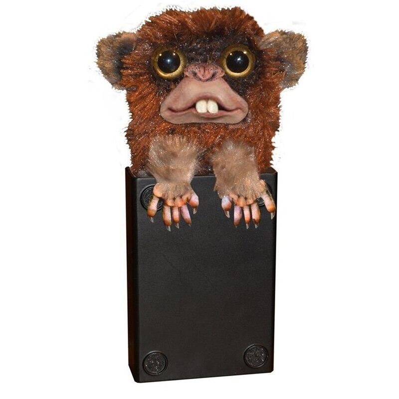 Innovative Sneekums Spielzeug Parodie Affe Spielzeug Pet Prankster Jitters Fell Kunststoff Braun Pet Überraschung Spielzeug Fell Kunststoff Finger Spielzeug