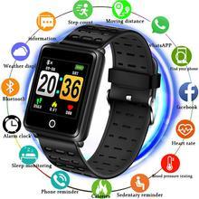 BANGWEI 2019 New Sport Bracelet Waterproof Watch Big screen Blood Pressure Heart Rate Monitor Pedometer Fitness smart Watch +Box