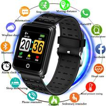 LIGE 2019 New Sport Bracelet Waterproof Watch Big screen Blood Pressure Heart Rate Monitor Pedometer Fitness smart +Box
