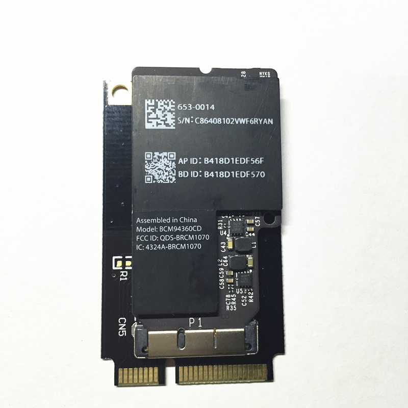 Broadcom BCM94360CD 802.11ac mini WLAN Bluetooth 4.0 Mini carte sans fil adaptateur PCI-e