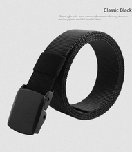 (No Metal Belts, Safety to Security Check) Casual Army Tactical Polyester Fiber Belt Designer Belts Men High Quality
