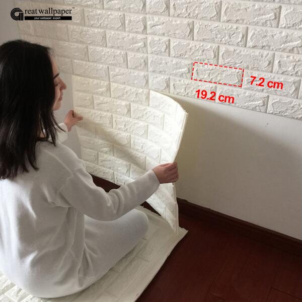 3D wall stickers wall brick pattern self-adhesive wallpaper bedroom living room decorative waterproof anti-collision removable waterproof gradient color zebra pattern wall stickers for living room bedroom decoration