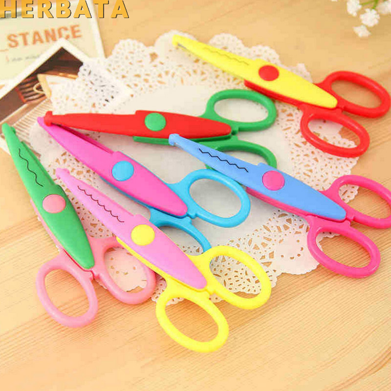 Lace DIY Paper Scissors Scrapbook Paper Photo Tools Diary Decoration Safety Scissors 6 Styles Selection School Supplies CL-1101